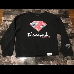 Diamond Supply co. Sweatshirt size medium